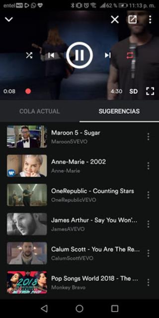 Vider: Youtube music player screenshot 3