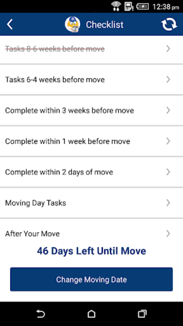 Moving App - Moving Checklist screenshot 3