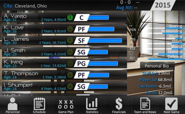 Basketball Dynasty Manager 16 screenshot 1