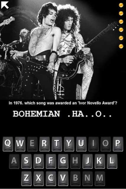 Hangman Queen Band Trivia screenshot 1