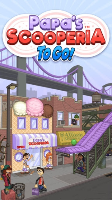 Papa's Scooperia To Go! screenshot 1