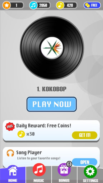 Magic Tiles - EXO Edition (K-Pop) screenshot 2
