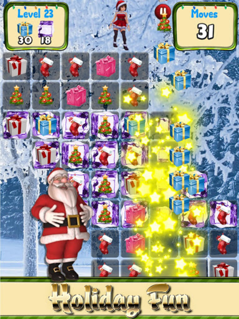 Christmas Games Match 3 puzzle & candy matching screenshot 2
