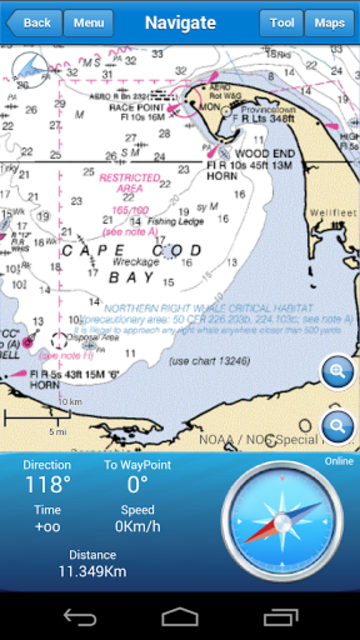 Marine Navigation Lite screenshot 2