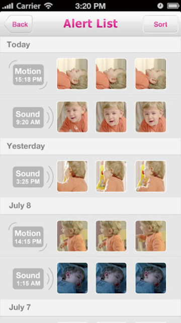 iBaby View screenshot 4