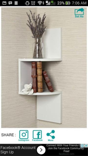 Wall Shelf Decorating Ideas screenshot 5