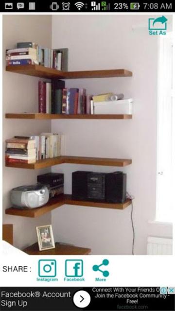 Wall Shelf Decorating Ideas screenshot 6