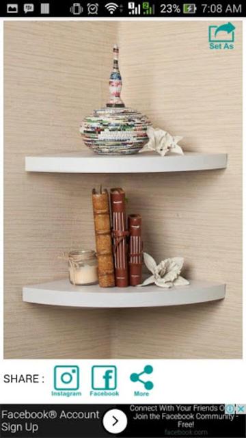 Wall Shelf Decorating Ideas screenshot 7