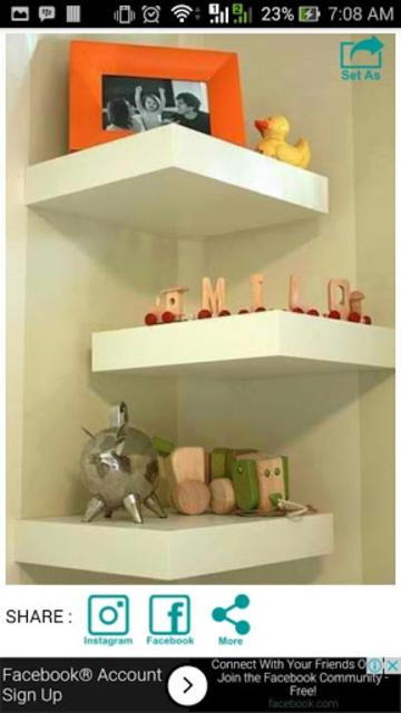 Wall Shelf Decorating Ideas screenshot 8