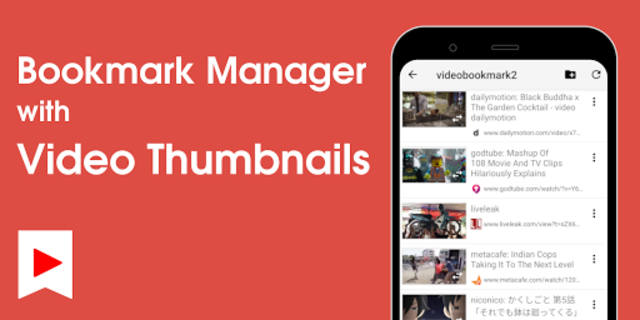 Video Bookmark - Bookmark Manager with Thumbnail screenshot 1