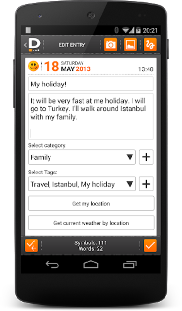 Private DIARY Pro - Personal journal screenshot 6