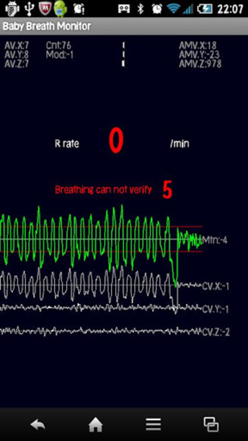 Baby breath monitor screenshot 2