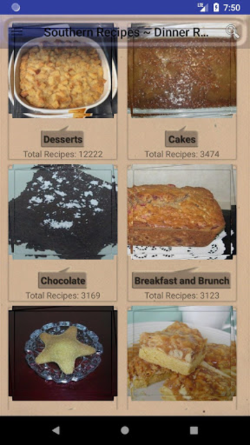 Southern Recipes ~ Dinner Recipes, Desserts screenshot 1