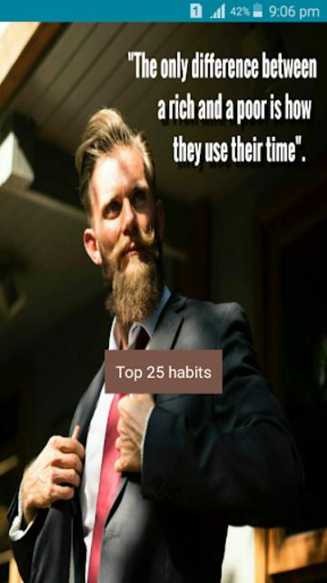 Millionaire mindset developing top 25 habits screenshot 1