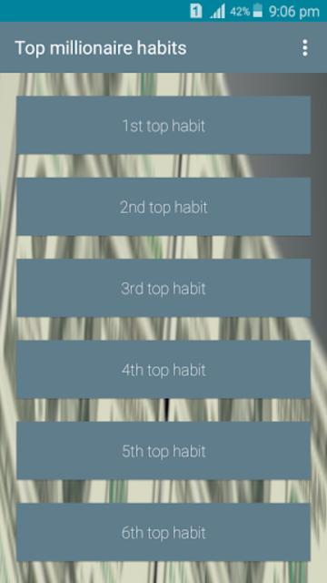 Millionaire mindset developing top 25 habits screenshot 2