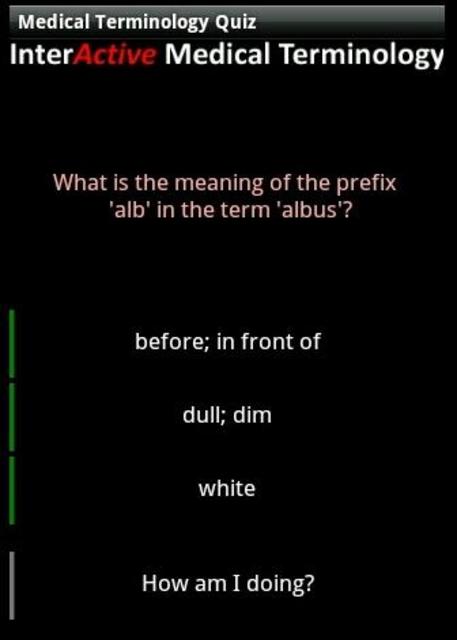 Medical Terminology Quiz screenshot 2