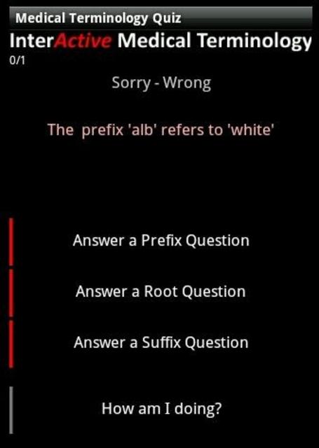 Medical Terminology Quiz screenshot 6