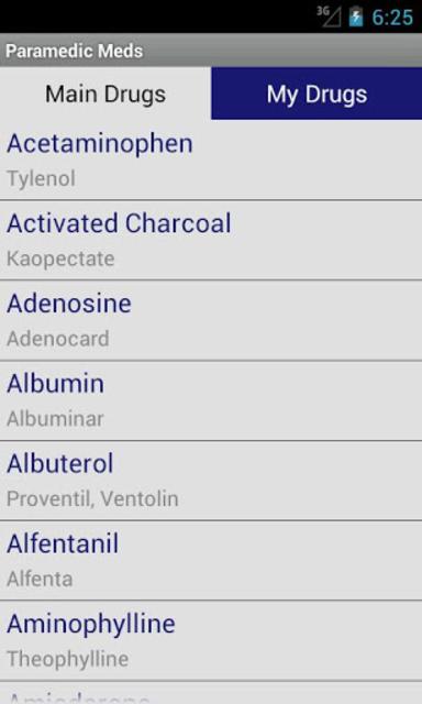 Paramedic Meds screenshot 1