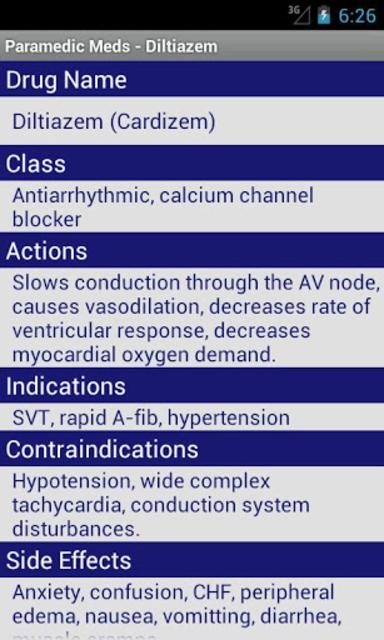 Paramedic Meds screenshot 2