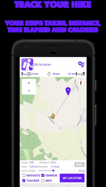 Hike Tracker - Hiking App with GPS navigation screenshot 1