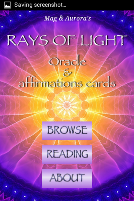 Rays of Light Oracle Cards screenshot 1