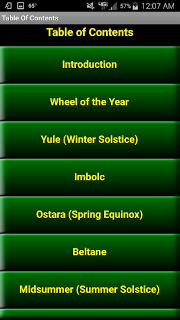 Wiccan Holidays: Wheel of the Year (Wicca Sabbats) screenshot 2