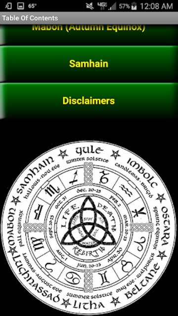 Wiccan Holidays: Wheel of the Year (Wicca Sabbats) screenshot 4