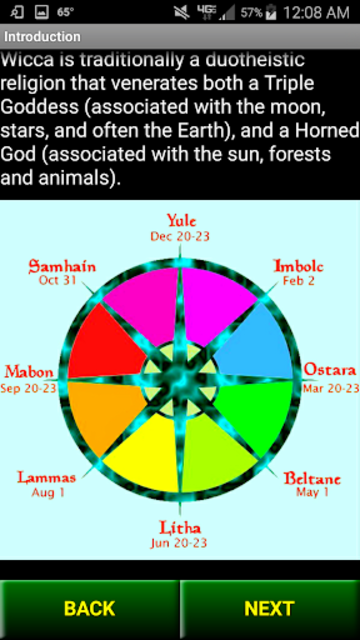 Wiccan Holidays: Wheel of the Year (Wicca Sabbats) screenshot 6