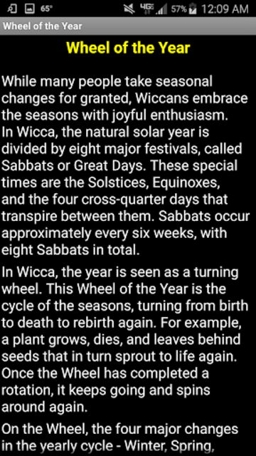 Wiccan Holidays: Wheel of the Year (Wicca Sabbats) screenshot 7