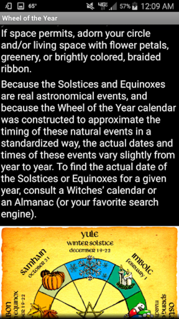 Wiccan Holidays: Wheel of the Year (Wicca Sabbats) screenshot 8