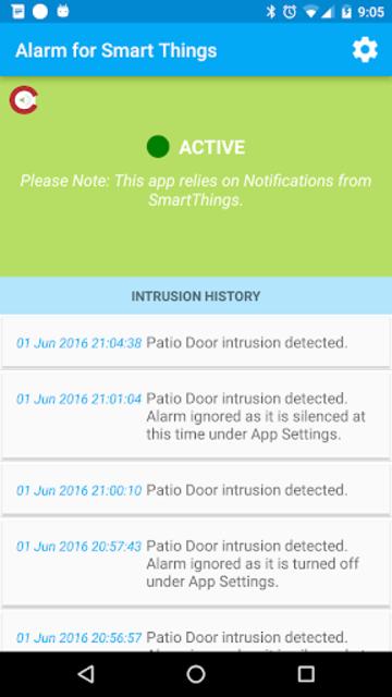 Alarm for Smart Things screenshot 1