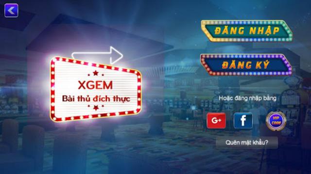 XGEM Game đánh bài đổi thưởng online Hot nhất 2017 screenshot 1
