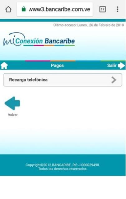 Mi Conexión Bancaribe Móvil screenshot 4