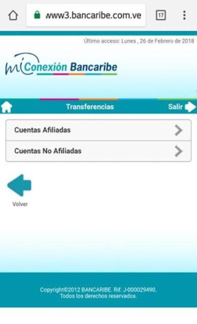 Mi Conexión Bancaribe Móvil screenshot 5