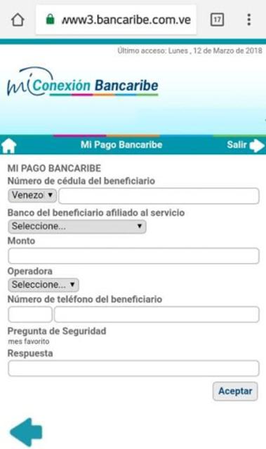 Mi Conexión Bancaribe Móvil screenshot 6