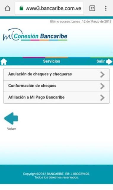 Mi Conexión Bancaribe Móvil screenshot 7