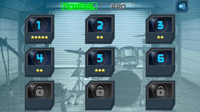 Drum Hero (rock music game, tiles style) screenshot 3