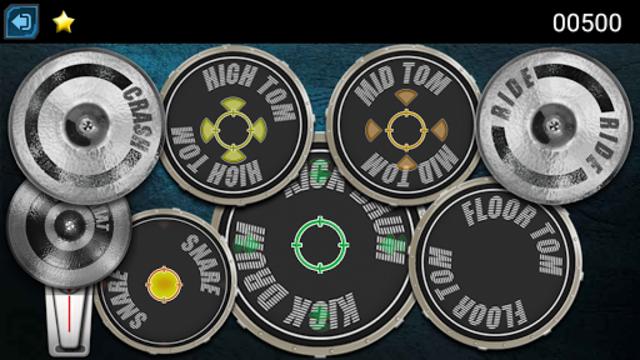 Drum Hero (rock music game, tiles style) screenshot 2