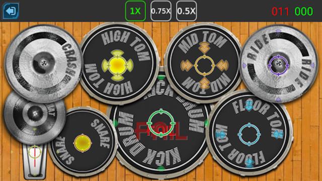 Drum Hero (rock music game, tiles style) screenshot 5