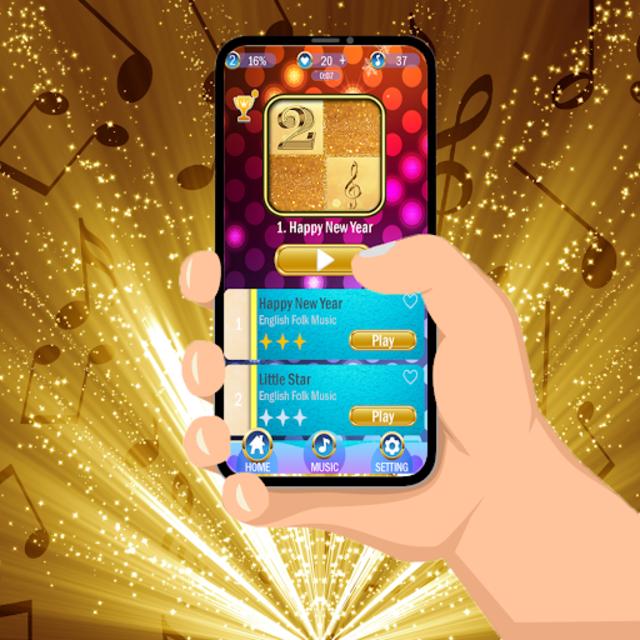 Black Gold Piano Tiles 2019 screenshot 1