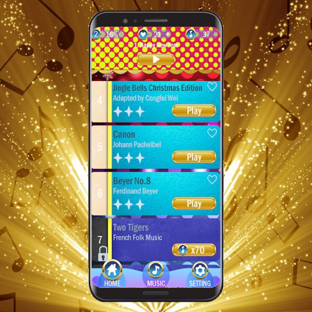 Black Gold Piano Tiles 2019 screenshot 2