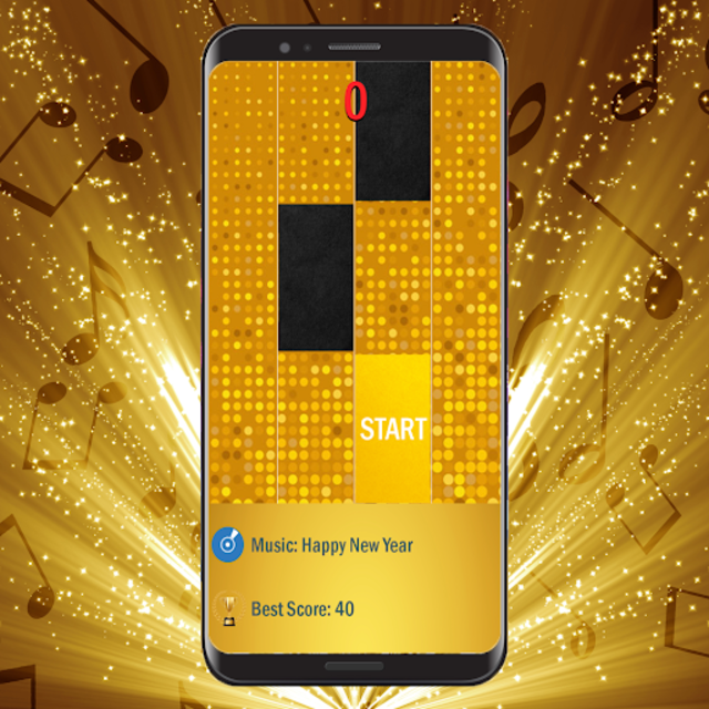 Black Gold Piano Tiles 2019 screenshot 3