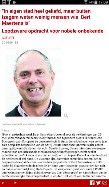 Krant van West-Vlaanderen screenshot 22