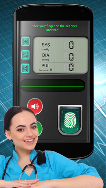 Finger Blood Pressure BP Scanner Calculator Prank screenshot 2