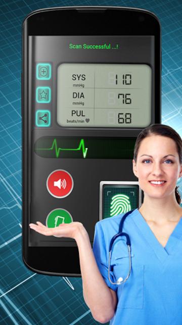 Finger Blood Pressure BP Scanner Calculator Prank screenshot 3