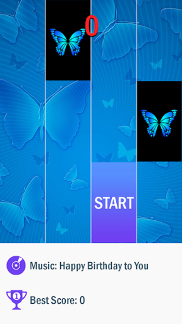 Blue Butterfly Piano Tiles  - Magic Tiles 2020 screenshot 1