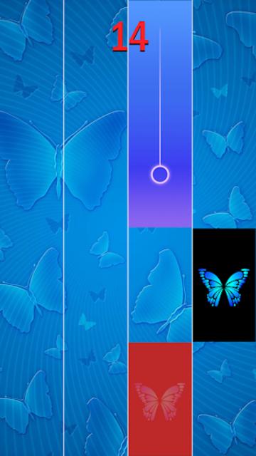 Blue Butterfly Piano Tiles  - Magic Tiles 2020 screenshot 4