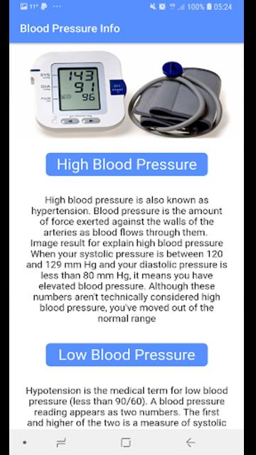 Blood Pressure - BP INFO screenshot 2