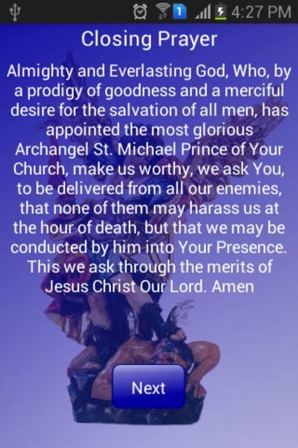 Novena to St Michael Archangel screenshot 8