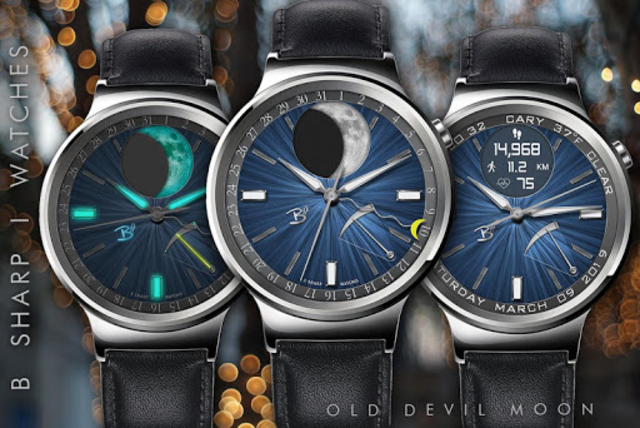 Old Devil Moon - watch face for smart watches screenshot 3